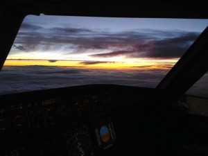 USAirways Airbus gorgeous sunset airline aviation airplane pilot
