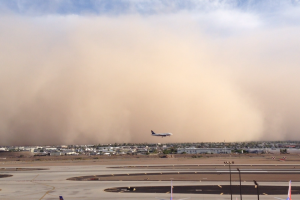 PHX Sky Harbor Airport Haboob Southwest Airlines USAirways