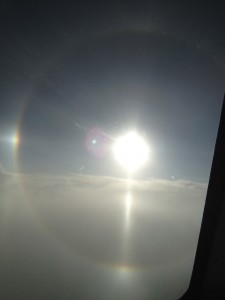 sun dog slum dog millionaire USAirways Airbus gorgeous sunset airline aviation airplane pilot