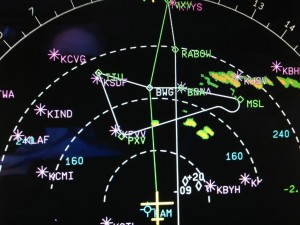 USAirways Airbus Nav Display ND  CapnAux airline aviation