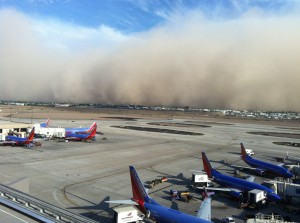 PHX Sky Harbor Airport Haboob Southwest Airlines CapnAux airline aviation
