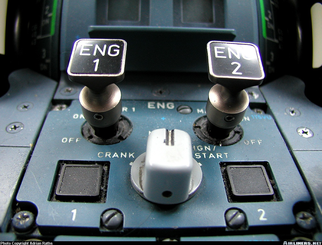 Overhead Aircraft Engine Control Lever : Cap n aux answers your avgeek q s part iii v