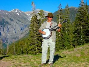 telluride bluegrass festival, banjo, jamming, capnaux, cap'n aux