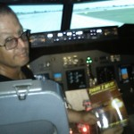 "Mark R. from the UK recently enjoyed a 737 sim ride, along with his copy of ""There I Wuz!"""
