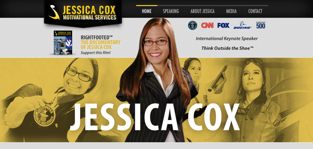 Jessica Cox Rightfooted