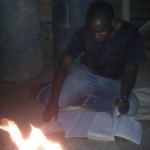 Kelvin studying in Tanzania