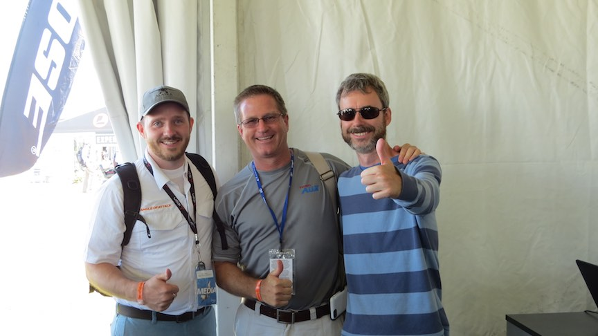 With Chris of AOA blog, and Steve Thorne of Flight Chops!