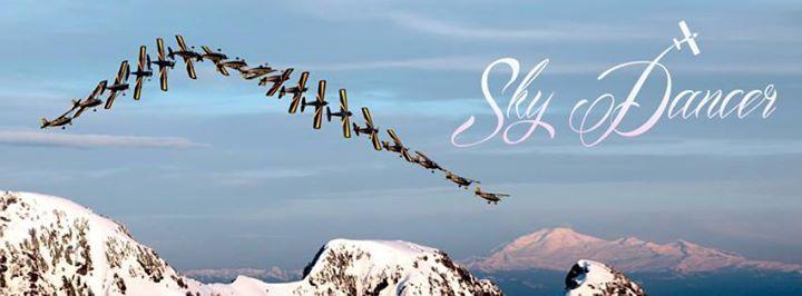 Sky Dancer collage by Anna Serbinenko; women in Aviation