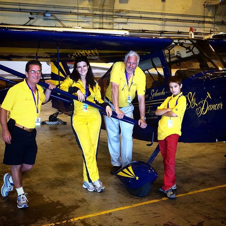 Team Sky Dancer with Anna Serbinenko Women in Aviation