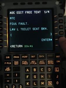 A320 MCDU Toilet