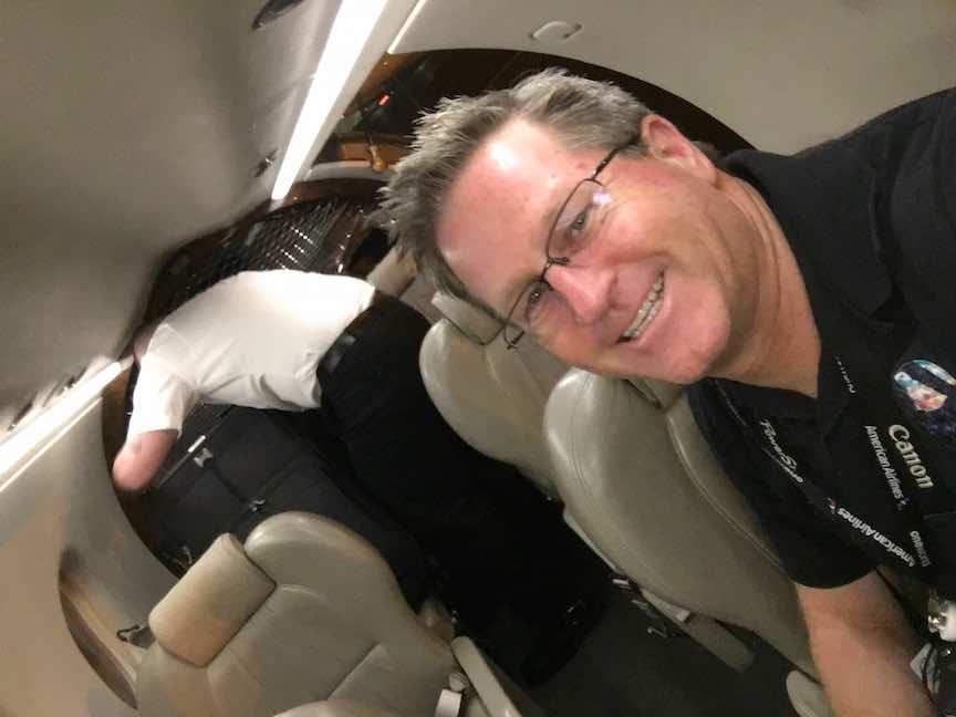 Boutique Air Cabin Selfie