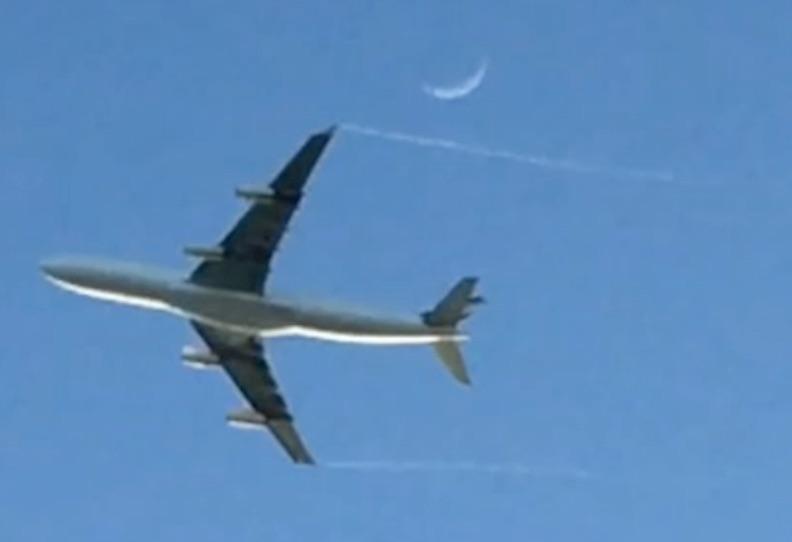 Departing Moon Shot! A340
