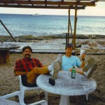 Pierre and I at our favorite bar—Sunset Bar, on STX! (St. Croix)