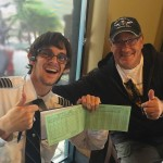 "Cap'n Tony ""signs off"" Cap'n Dillon. You can't imagine what amazing flights this boy has in his logbook now!"