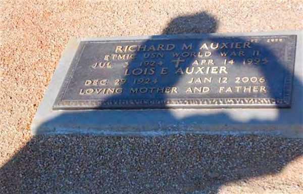 Allen Salute Dads Grave