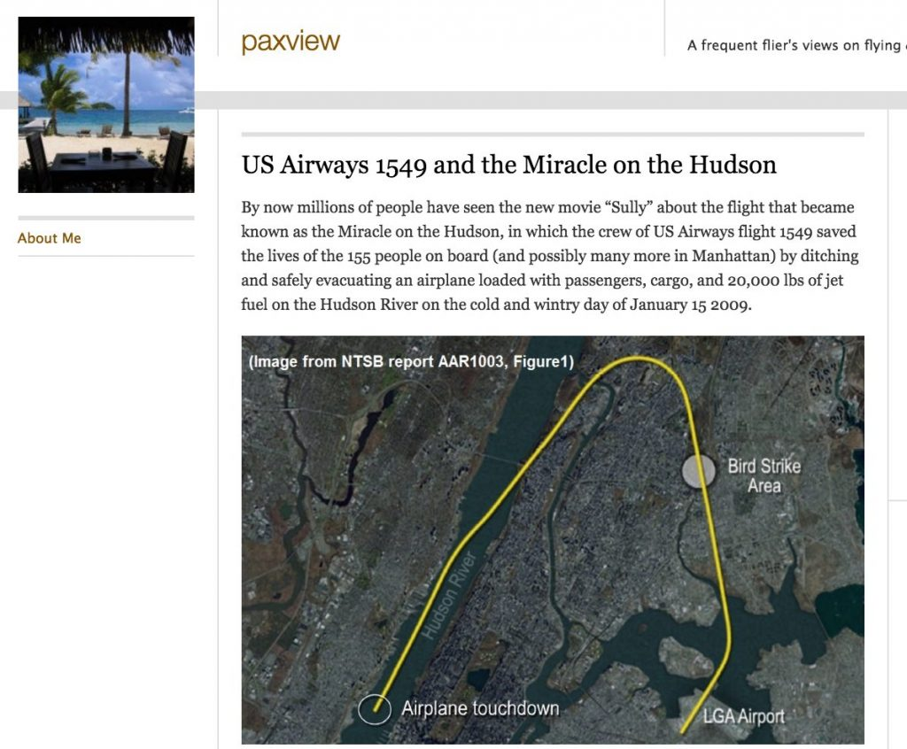 paxview Sully Movie and Miracle on the Hudson Lessons