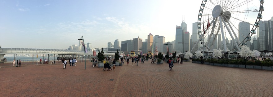 HK downtown ferris pano Aerial Adventures Hong Kong Style!