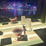 The dragon martini, overlooking the beautiful lights of HK!