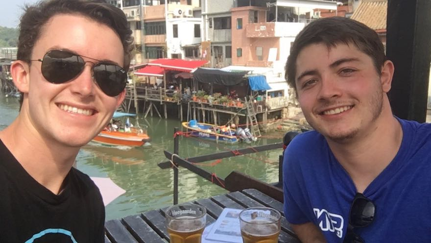 Swayne and Wyatt enjoying one HK's many outlying islands!