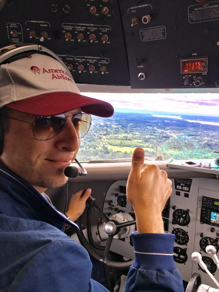Capt Raph AWA hat! Jumpseating on the Breitling Round the World DC-3 Part 3!